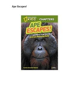 Ape Escapes! Book Study