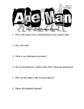 Ape Man: The Human Puzzle (Video Questions for Students)