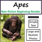 Apes: Non-fiction animal e-book for beginning readers