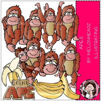 Apes clip art - COMBO PACK - by Melonheadz
