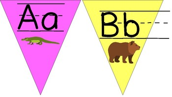 Alphabet Banner with Visuals