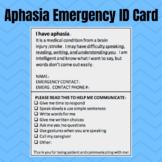 Aphasia Emergency ID Card