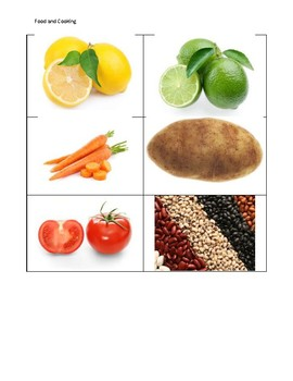 Aphasia Picture Stimuli: Food and Cooking