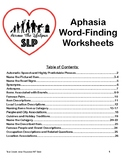 Aphasia Word-Finding Worksheets