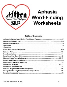 image about Printable Aphasia Worksheets named Aphasia Worksheet Lecturers Pay out Academics