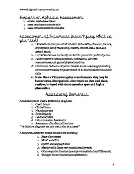 Aphasia and Related Disorders Study Packet