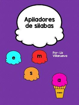 Apiladores de Silabas/ Ice Cream Stackers of Syllables