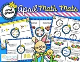 April Math Mats {first grade}