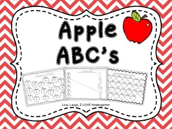 Aple ABC's~NO PREP Worksheets