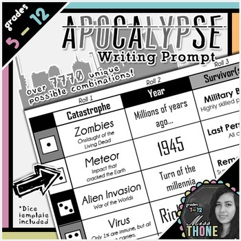 Apocalypse Roll-A Writing Prompt