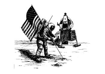 Apollo 11 Comic Strip and Storyboard