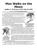 Apollo 11 Man Walks the Moon: 2 page literacy article  w Q's