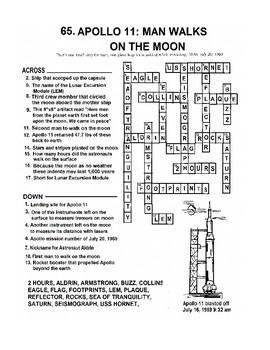 Apollo 11 Man Walks on the Moon Crossword