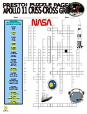 Apollo 11 : Space / Moon Puzzle Pages (2 Puzzles, Sentence Writing) - Answer Key
