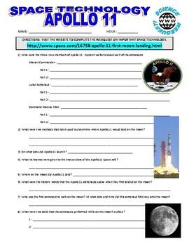 Apollo 11 : Space Technology Webquest (NASA)