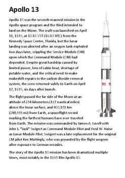 Apollo 13 Handout