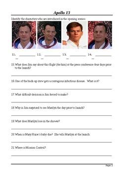 Apollo 13 Movie Viewing Questions