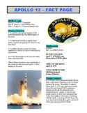 Apollo 13 / NASA (Article and Question Sheet) - Space & Planets