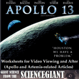 Apollo 13 video viewing worksheets and after activities