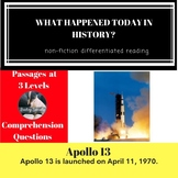 Apollo 13 Differentiated Reading Passage April 11