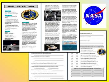 Apollo 14 / NASA (Article and Question Sheet) - Space & Planets
