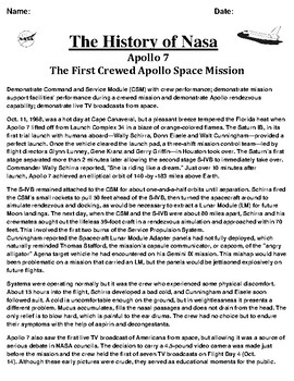 Apollo 7 Mission Article and Summary/Illustration Assignment