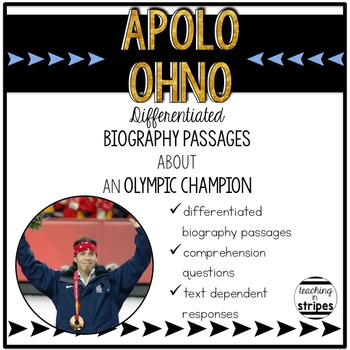 Apolo Ohno: Differentiated Biography Passages & Reading Comprehension
