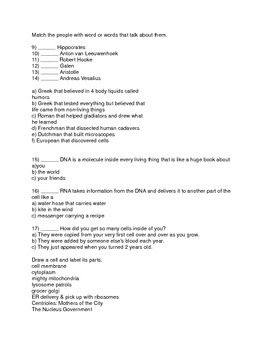Apologia Anatomy Chapters 1-6 Test/Exam