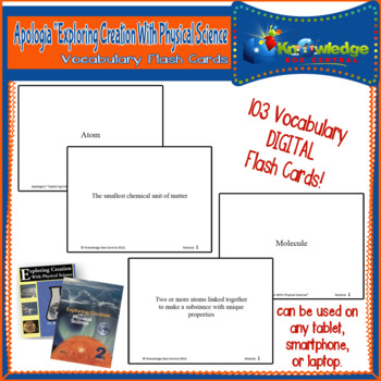 Apologia Expl. Creation W/ Physical Science Vocabulary Word Flash Cards TABLET