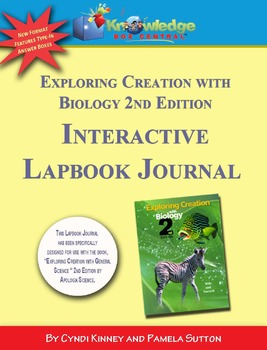 Apologia Exploring Creation With Biology 2nd Ed INTERACTIVE Lapbook Journal