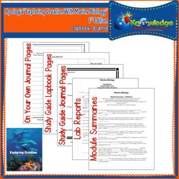 Apologia Exploring Creation With Marine Biology Lapbook Journal - EBOOK