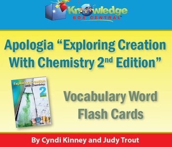 Apologia Exploring Creation w/ Chemistry Vocabulary Word Flash Cards 2nd Edition
