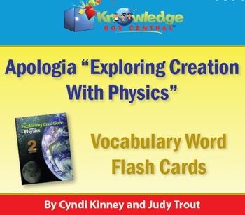 Apologia Physics 2nd Edition Vocabulary Word Flash Cards 2