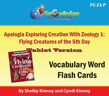 Apologia Exploring Creation w/ Zoology 1: Flying Creatures of the 5th Day-Tablet