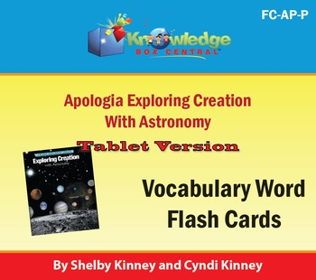 Apologia Exploring Creation with Astronomy Vocabulary Flash Cards Tablet
