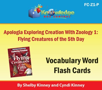 Apologia Exploring Creation with Zoology 1: Flying Creatures Vocab Flash Cards