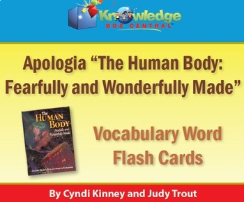 Apologia Human Body Vocabulary Word Flash Cards