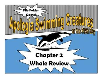 Apologia Swimming Creatures Whale Review File Folder Game