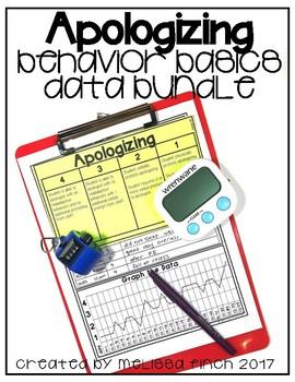 Apologizing- Behavior Basics Data Bundle