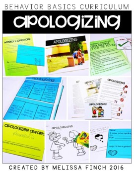 Apologizing-  Behavior Basics Program for Special Education