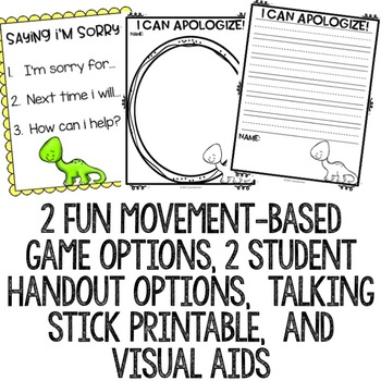 Apologizing Classroom Guidance Lesson for Early Elementary School Counseling