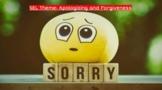 Apologizing and Forgiveness: SEL Theme Slideshow