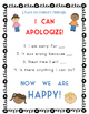 Apology Anchor Chart