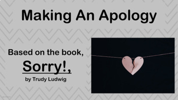 Apology - Forgiveness Social Skills Lesson -  4 Video links & Worksheet  PBIS