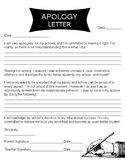 Apology Letter for Middle School