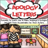 *Apology Letters - Template that Teaches Kids to Make Meaningful Apologies