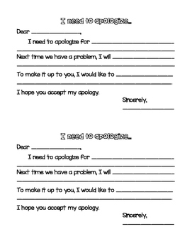 Apology Note Template