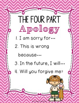 Apology Poster {FREE}