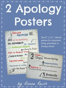Apology Poster Pack
