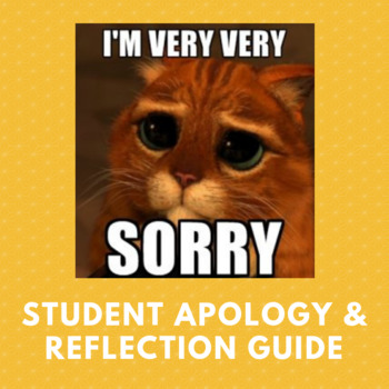 Apology Reflection Letter